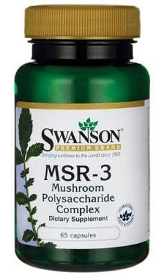 Swanson MSR-3 mushroom polysaccharide complex 65 capsules / Суонсън МСР-3 Полизахариден комплекс от гъби 65 капсули