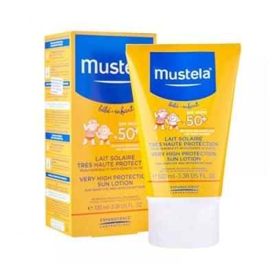 Mustela Very high protection sun lotion SPF 50+ 100 ml / Мустела Слънцезащитен лосион за бебета и деца с много висока защита SPF 50+ 100 мл.
