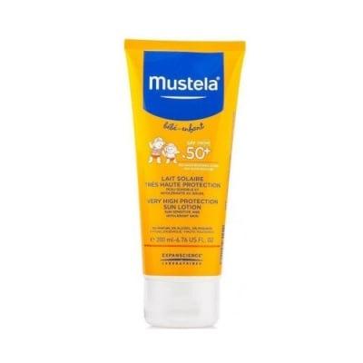 Mustela Very high protection sun lotion SPF 50+ 200 ml / Мустела Слънцезащитен лосион за бебета и деца с много висока защита SPF 50+ 200 мл.
