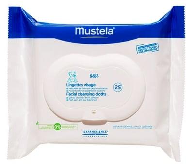 Mustela Bebe Cleansing face 25 wipes / Мустела Bebe Почистващи кърпички за лице 25 броя