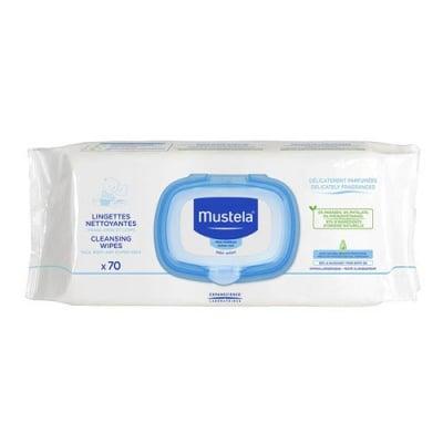 Mustela Bebe Cleansing wipes 70 pcs. / Мустела Бебе Почистващи мокри кърпички 70 броя