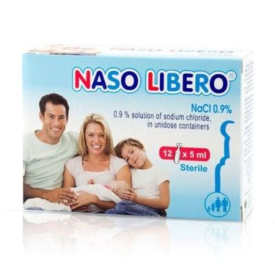 Naso Libero 0.9% solution of sodium chloride 12 doses x 5 ml / Назо Либеро физиологичен разтвор 12 дози x 5 мл.
