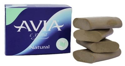 Avia soap with clay Natural 25 g 4 pcs. / Авиа Сапун с хума Natural 25 гр. 4 броя