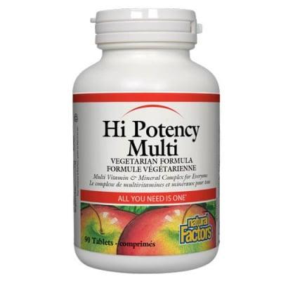Hi Potency Multi Vitamin and Mineral Complex 90 tablets Natural Factors / Хай Потенси Мулти витамин и минерал комплекс 90 таблетки Натурал Факторс