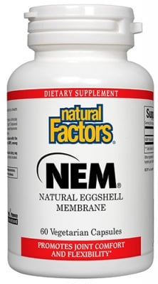NEM relief from joint 60 capsules Natural Factors / НЕМ -Подкрепа за стави 60 капсули Натурал Факторс