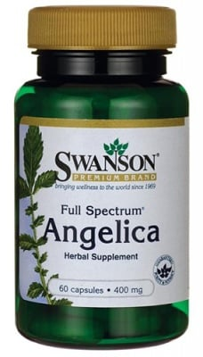 Swanson Full spectrum Angelica 400 mg 60 capsules / Суонсън Ангелика корен фул спектрум 400 мг. 60 капсули