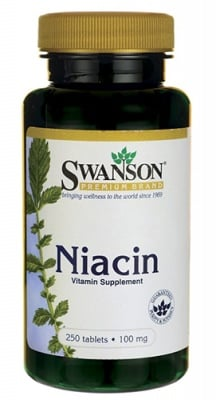 Swanson Niacin (Vitamin B3) 100 mg 250 tablets / Суонсън Ниацин (Витамин Б3) 100 мг. 250 таблетки