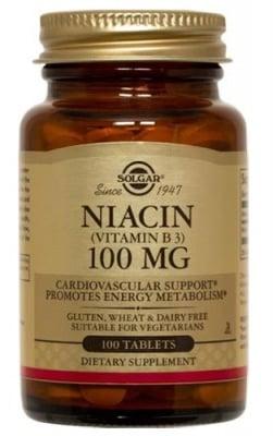 Niacin 100 mg 100 tablets Solgar / Ниацин 100 мг. 100 таблетки Солгар