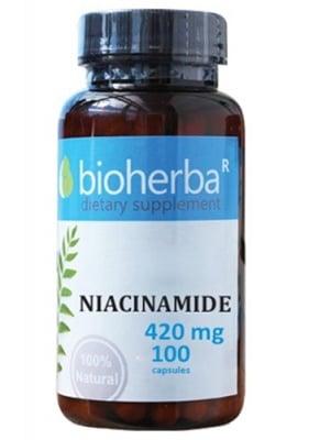 Bioherba niacinamide 420 mg 100 capsules / Биохерба Ниацинамид 420 мг. 100 капсули