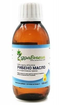 Norwegian cod liver oil 125 ml Zdravnitza / Течно рибено масло от норвежка треска 125 мл. Здравница