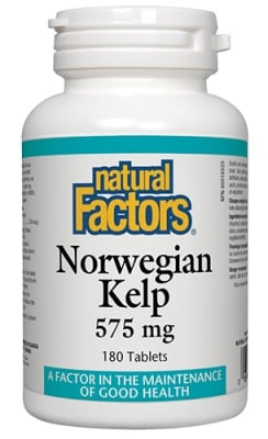Norwegian kelp 575 mg 180 tablets Natural Factors / Норвежки Келп 575 мг. 180 таблетки Натурал Факторс