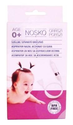 Nosko baby nose aspirator / Аспиратор за нос Носко Бебе за изсмукване с уста
