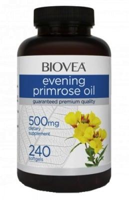Biovea Evening primrose oil 500 mg 240 capsules / Биовеа Масло от вечерна иглика 500 мг. 240 капсули
