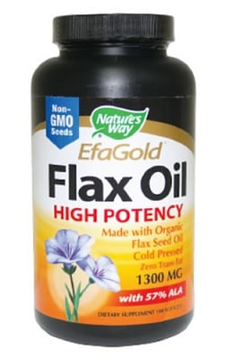 Flax oil with 57% ALК 1300 mg 100 capsules Nature's Way / Ленено масло 57% АЛК 1300 мг. 100 капсули Nature's Way
