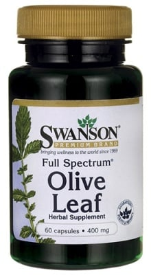 Swanson Olive leaf 400 mg 60 capsules / Суонсън Маслина лист 400 мг. 60 капсули
