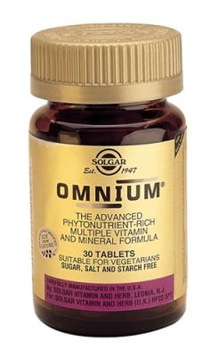 Omnium 30 tablets Solgar / Комплекс от витамини Омниум 30 таблетки Солгар