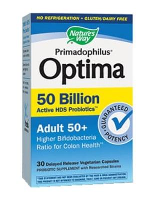 Primadophilus Optima 50+ adult 30 capsules Nature's Way / Примадофилус оптима 50+ 30 капсули Nature's Way