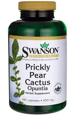 Swanson prickly pear cactus opuntia 650 mg 180 capsules / Суонсън Кактус опунция (бодлива круша) 650 мг. 180 капсули