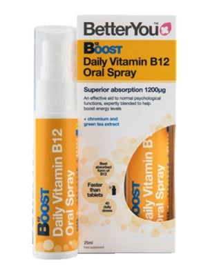 Better You daily vitamin B12 oral spray 1200 mcg 25 ml. / Бетър Ю Интра - Орален спрей с Витамин Б12 1200 мкг. 25 мл.