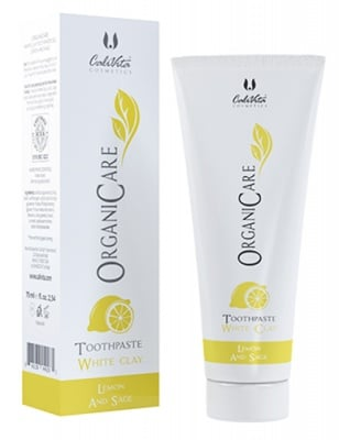 Calivita Organic Care toothpaste white clay 75 ml. / Каливита Органик Кеър Паста за зъби с Бяла глина 75 мл.