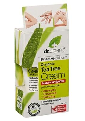Dr. Organic Tea tree cream antiseptic 50 ml. / Др. Органик Чаено дърво антисептичен крем 50 мл.
