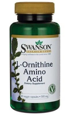 Swanson L-Ornithine amino acid 500 mg 60 capsules / Суонсън L-Орнитин 500 мг. 60 капсули