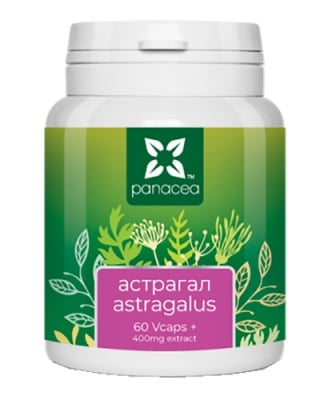 Panacea Astragalus 400 mg 60 capsules / Панацея Астрагал 400 мг 60 капсули