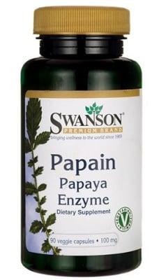 Swanson Papain papaya enzyme 100 mg 90 capsules / Суонсън Папаин ензим от папая 100 мг 90 капсули