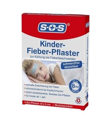 S.O.S. gel patches high temperature 4 pcs / С.О.С. лепенки при висока температура 4 бр.