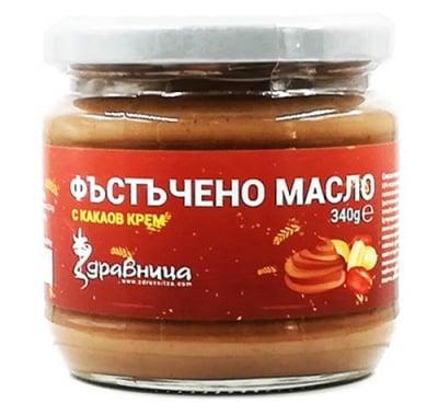 Peanut butter with cocoa cream 340 g Zdravnitza / Фъстъчено масло с какаов крем 340 гр Здравница