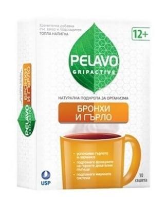 Pelavo gripactive bronchi and throat 10 sachets / Пелаво Грипактив Бронхи и гърло 10 сашета