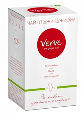 Tea Verve ginger & peppermint 20 filter bags / Чай Върв филтър джинджифил и мента 20 броя