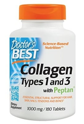 Doctor's Best collagen types 1 and 3 with peptan 1000 mg 180 tablets / Доктор'с Бест Колаген 1 и 3 1000 мг. 180 таблетки