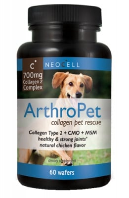 Arthropet collagen pet rescue 60 wafers NEOCELL USA / Артропет колаген тип II комплекс за кучета 60 дъвчащи таблетки NEOCELL USA