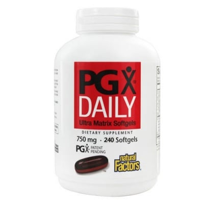 Daily Ultra PGX 750 mg 240 softgels Natural Factors / Дейли Ултра PGX 750 мг. 240 меки капсули Натурал Факторс