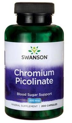 Swanson chromium picolinate 200 mcg 200 capsules / Суонсън Хром пиколинат 200 мкг. 200 капсули