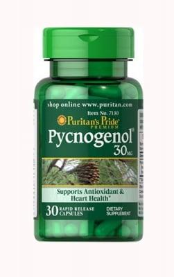 Puritan`s Pride Pycnogenol 30 mg 30 capsules / Пуританс Прайд Пикногенол 30 мг 30 капсули