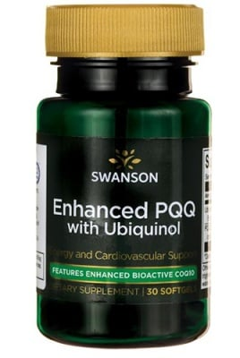 Swanson Enhanced PQQ with Ubiquinol 60 mg 30 capsules / Суонсън Подобрен PQQ с Убиквинол 60 мг. 30 капсули