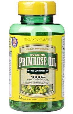 Evening Primrose oil 1000 mg 60 capsules Holland & Barrett / Масло от Вечерна иглика с Витамин Б6 1000 мг 60 капсули Holland & Barrett