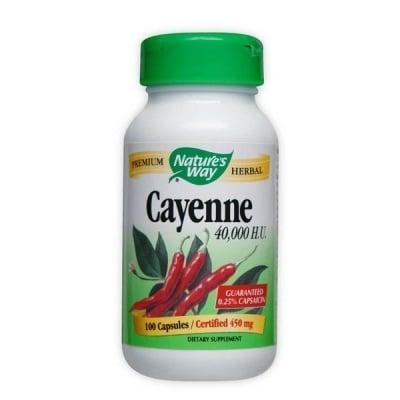 Cayenne 450 mg 100 capsules Nature's Way / Лют червен пипер 450 мг. 100 капсули Nature's Way