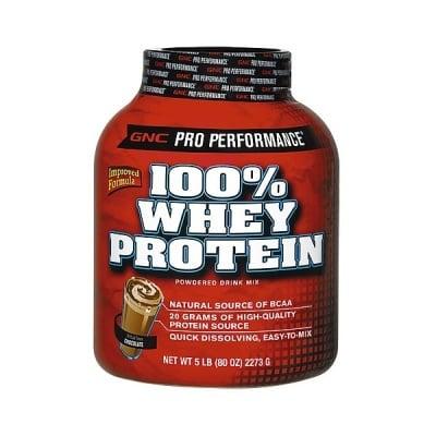 GNC Whey Protein 100% / Суроватъчен протеин - Шоколад 100%, Прах: 2273 гр.