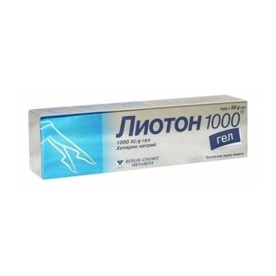 Lioton 1000 / Лиотон 1000 гел, Гел: 50 g