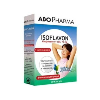Abopharma Isoflavon 30 capsules / Абофарма Изофлавон 30 капсули