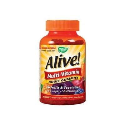 Alive Multi-vitamin adult 90 gummies Nature's Way / Алайв Мултивитамини за възрастни 90 желирани таблетки  Nature's Way