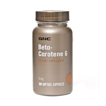 GNC Beta-Carotene / Бета-каротен, Брой капсули: 100