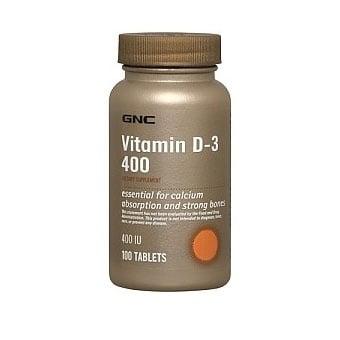 GNC Vitamin D3 / Витамин D3  400 IU, Брой таблетки: 100