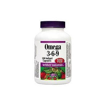 Webber naturals Omega 3-6-9 / Омега 3-6-9 , Брой капсули: 90
