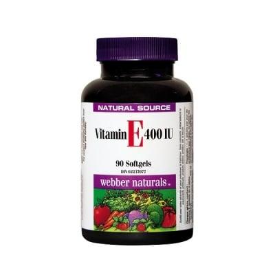 Webber Naturals Vitamin E / Витамин Е 400 IU, Брой капсули: 90