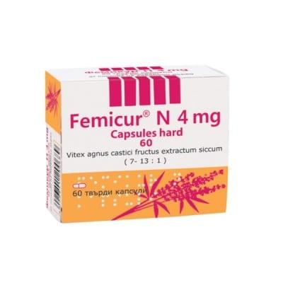 Femicur N / Фемикур Н, Брой капсули: 60