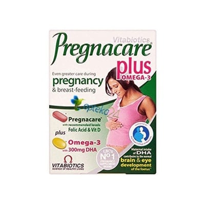 Pregnacare Plus Omega - 3 28 tablets + 28 capsules Vitabiotics / Прегнакеър Плюс Омега - 3 28 таблетки + 28 капсули Витабиотикс